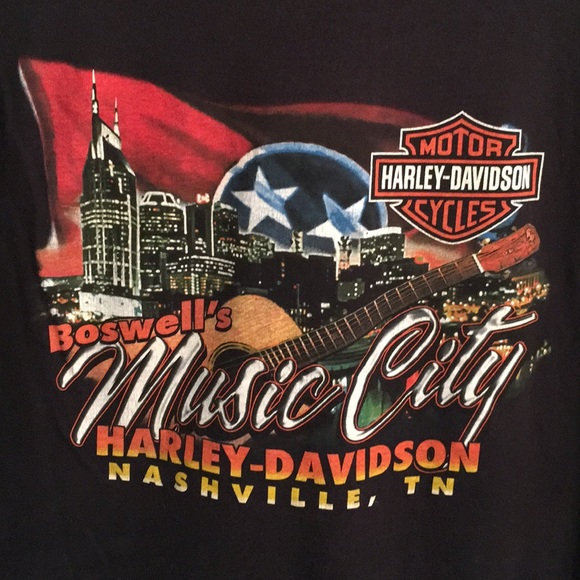 Harley Davidson Nashville >> Boswells Music City Harley Davidson Tee Nashville